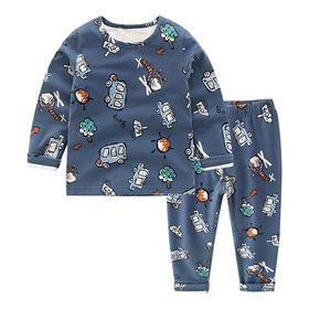 【预售:7-10天发货】儿童加绒内衣加厚纯棉保暖内衣套装宝宝家居服