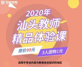 2020汕头教师考试精品体验课