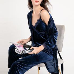 Avann阿曼·秋冬丝绒复古家居服(3件套)| 维密都在用的高档丝绒,格调中尽显柔软