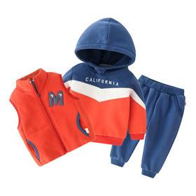 【预售:7-10天发货】男孩加厚运动套装套装三件套