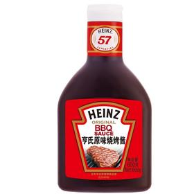 亨氏(Heinz) 烧烤酱 原味烧烤酱调 牛排烧烤酱烧烤调料 无菌瓶装 600g 卡夫亨氏出品-864943