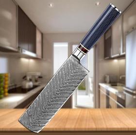 【刀具】大马士革钢厨房日式小菜刀树脂柄切肉刀切菜切片刀专业厨师刀具