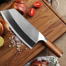 【刀具】菜刀家用不锈钢厨刀切片刀锻打手工中式厨师刀
