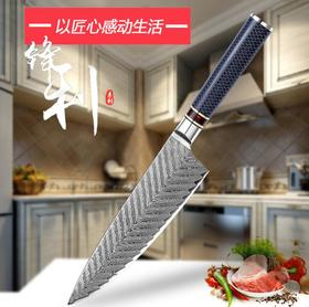 【刀具】大马士革锋利日式主厨刀料理寿司切片刀家用厨房8.5寸超薄鱼生刀