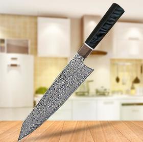 【刀具】大马士革钢新款八角柄G10厨师刀 日式料理寿司切肉刀