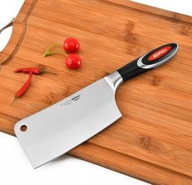 【刀具】.锻打不锈钢厨房刀具砍骨刀家用菜刀切片刀专业厨师刀