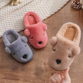 儿童棉拖鞋女孩男童冬季保暖可爱室内包跟中大童家居毛绒宝宝棉鞋