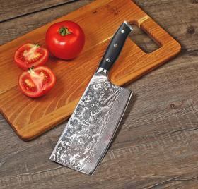 【刀具】大马士革G10柄钢刀家用菜刀厨师锋利专用切菜刀切片刀切肉刀刀具