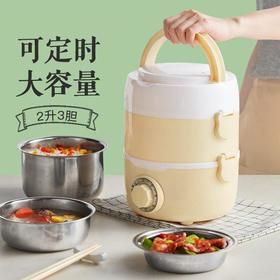 【可定时加热饭盒】大容量电热饭盒保温定时 可插电热蒸饭便携便当盒