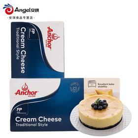 安佳芝士奶油奶酪1kg*12盒 整箱批发 干酪乳酪cream cheese芝士蛋糕