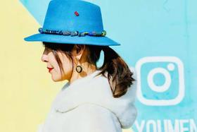 MY BOB 蓝色羊毛爵士装饰帽