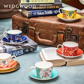 【WEDGWOOD 漫游美境】玮致活漫游美境杯碟组骨瓷欧式咖啡杯碟下午茶杯碟套装