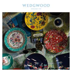 【WEDGWOOD 漫游美境】玮致活漫游美境20cm盘子四件组骨瓷欧式餐盘餐具家用套装
