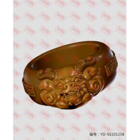 YD-SS101258 貔貅戒指  立体圆雕图纸
