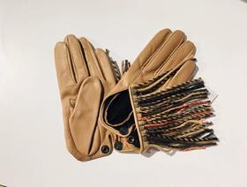 THOMASINE 羊毛流苏装饰手套