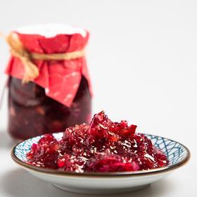 植物界的红宝石玫瑰花酱 花香四溢 色泽红润 唇齿留香