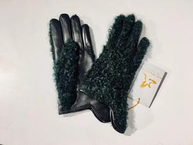THOMASINE 卷曲羊毛羊皮装饰手套