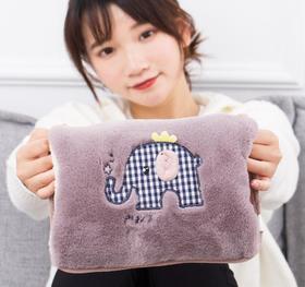 【热睡袋】热水袋充电式防爆毛绒双插暖宝宝卡通暖水袋暖+80积分