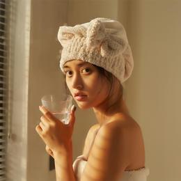 【3分钟快速干发不伤发】珊瑚绒菠萝格柔软吸水干发帽 日式可爱套头公主帽速干浴帽