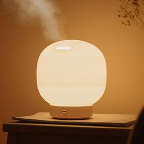 泡泡香薰机加湿器 底座绿色 精油香薰灯 暖光灯 家用熏香静音 超声波喷雾 水箱500ml