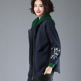 CQ-LYSX9345新款个性绒衫长袖连帽气质卫衣TZF