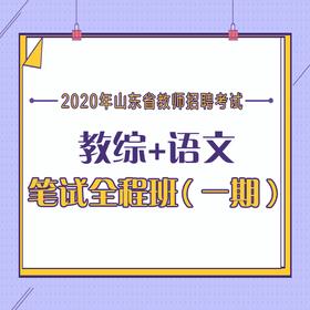 2020年山東省教師招聘 教育綜合知識+學科專業知識 筆試全程班(一期)