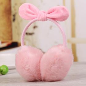 HQZZ耳朵A新款可调节蝴蝶结可爱兔耳朵保暖耳罩TZF