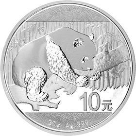 2016年熊猫银币30克银币·999纯银(带红盒)