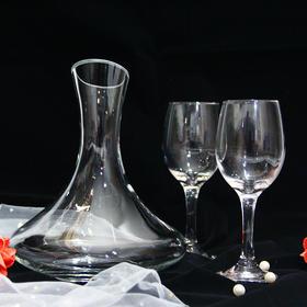 红酒杯醒酒器礼盒套装(晶白料玻璃)