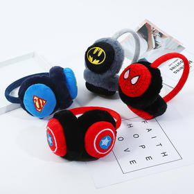HQZZ超人新款冬季立体卡通头戴式毛绒保暖耳罩TZF