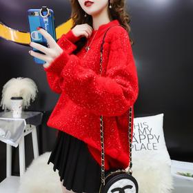 AHM-ylmy1857新款森系韩版百搭慵懒风毛衣TZF