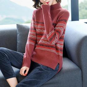 AHM-ylclg1707新款半高领慵懒风针织复古毛衣TZF