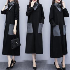 AB-YNFS088新款2019秋季显瘦高领连衣裙TZF