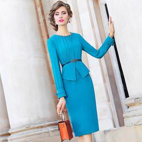 FMY25901新款201收腰显瘦气质假两件连衣裙