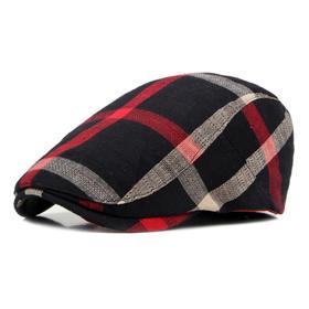 CQDZ-CQ0446新款英伦风经典复古格子贝雷帽TZF