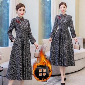 AHM-spg5299新款改良版旗袍式中国风连衣裙TZF