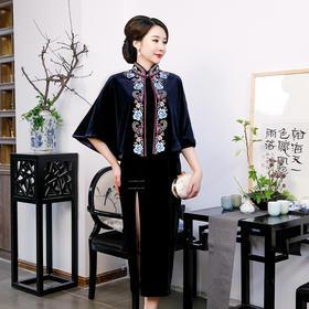 QQ9512US新款民族风复古刺绣披肩TZF