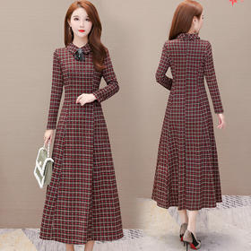 HT5290新款时尚气质韩版格子裙TZF