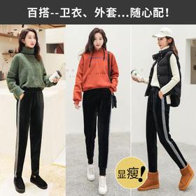 RT-y759新款加绒加厚休闲金丝绒运动裤TZF