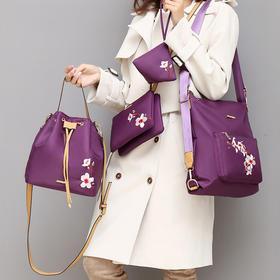 LZN-0-2062新款时尚双肩刺绣民族手提包套装TZF
