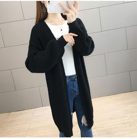 AB-OZ15057新款灯笼袖针织开衫毛衣外套TZF