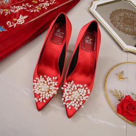 QGMR-H1473新款红色宴会女式高跟鞋TZF