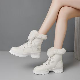 OLD8586新款加绒真皮内增高防滑雪地靴TZF