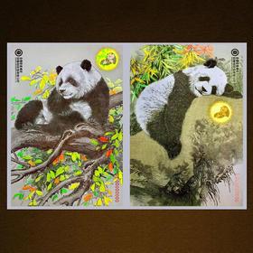 联合国大熊猫钞艺画