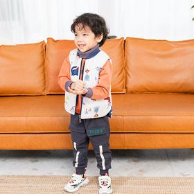 儿童夹棉马甲冬季双面穿