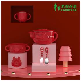 【工厂发货】儿童注水保温316不锈钢碗 辅食碗餐具 五件套