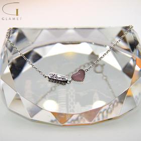 尚镁时尚猫眼石爱心手链J90025