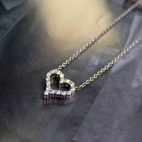 薇芙洛丝经典心形莫桑钻项链