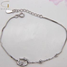 尚镁时尚镶石可爱猫咪手链J90024