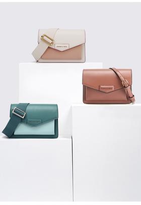 【小ck专场礼盒包装】女士翻盖邮差单肩包包——新色邮差包